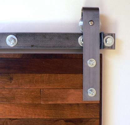 Design sleuth flat track barn door hardware remodelista for Hardware for sliding barn doors flat track