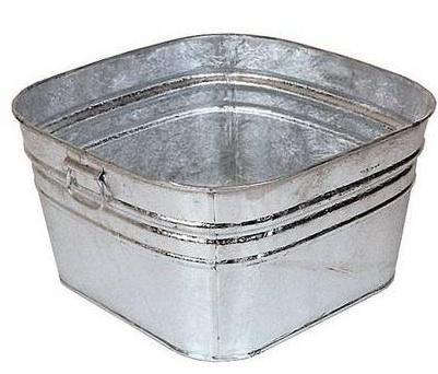 outdoors galvanized square wash tub remodelista