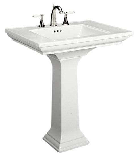 Kohler Memoirs 24 Pedestal Sink : Above: Kohler Memoirs Pedestal Sink shown in 27-inch width (also ...