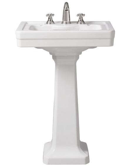 18 Pedestal Sink : ... : The 24-inch Porcher Lutezia Pedestal Sink is $346.50 at eFaucets