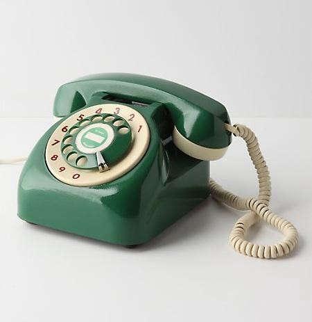 vintage%20rotary%20phone%20green%20