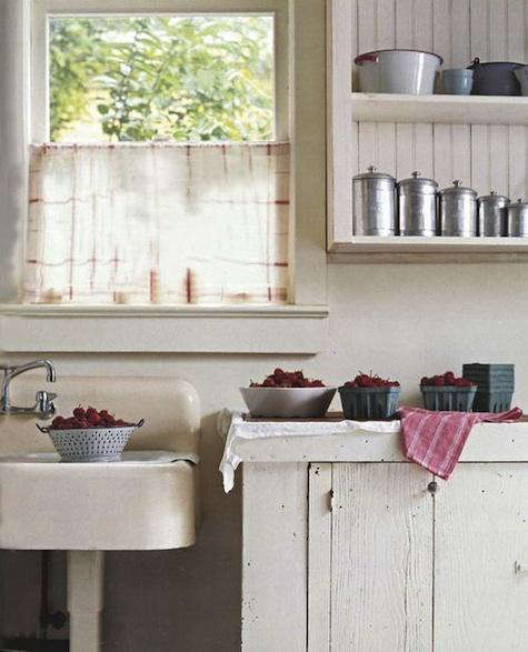Accessories: Dish Towel As Curtain: Remodelista
