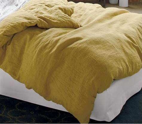 mustard-linen-duvet-cb2