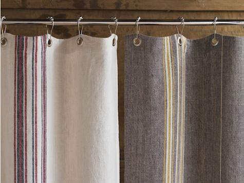 Bath Rustic Linen Shower Curtain From Coyuchi Remodelista