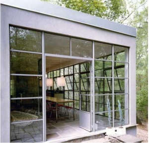 New York architect Page Goolrick kitchen of steel-framed windows