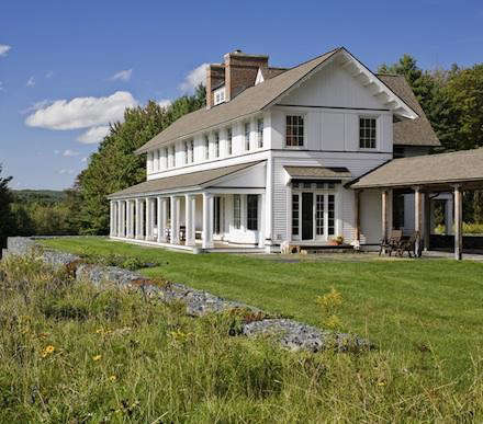 Architect visit albert righter tittmann in vermont for Vermont farmhouse plans