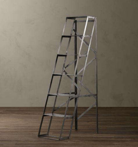 Above: Mid-Century Shop Ladder Shelving; $499 at Restoration Hardware.