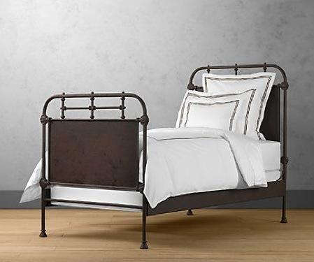furniture iron bed frame at restoration hardware remodelista