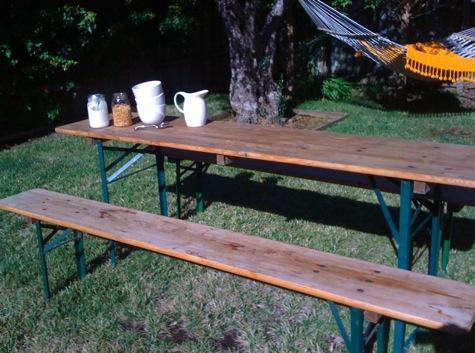 Outdoors German Beer Garden Table Remodelista