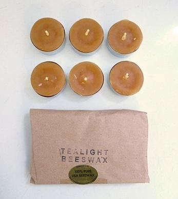 Beeswax-tealights
