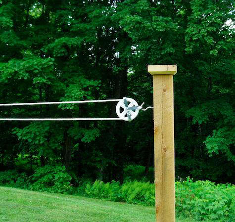 Outdoor Clothesline Pulley Kit - Remodelista