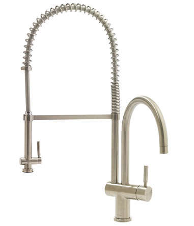 vigo commercial style chrome kitchen faucet remodelista geyser stainless steel commercial style coiled spring