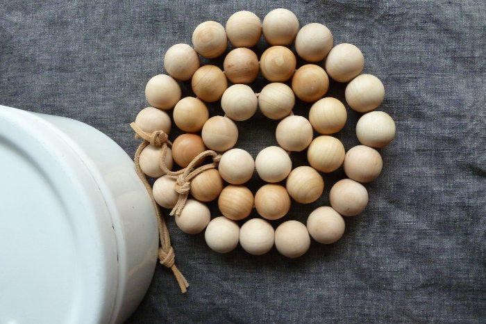 Unfinished Round Wooden Beads Remodelista
