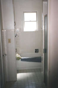 view-in-before.-note-original-separate-shower-on-t, Remodelista: Best Bath Space, A remodel of a 6'5