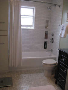 same-view-after, Remodelista: Best Bath Space, A remodel of a 6'5