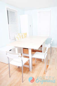 A-quick-change-transformation-turns-a-small-entry-, Remodelista: Best Dining Space, We added tons of storage to our tiny entryway, creating a budget-friendly hidden dining room. DIY dining table has built-in storage & folds into an entryway table. Repurpo