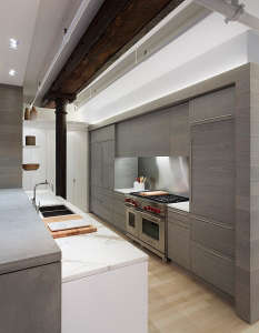 from-the-side, Remodelista: Best Kitchen Space, Stripped down but not too modern for a family in Brownstone Brooklyn who spends most of their time in the kitchen--or outside.