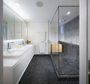lit-by-3-story-light-well, Remodelista: Best Bath Space, Master bathroom with Ofuro