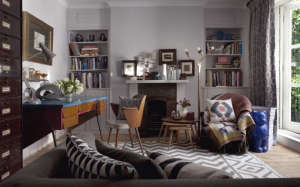 The-office-was-intentionally-decorated-so-that-it-, Remodelista: Best Office Space, The client wanted to be able to get maximum use from a naturally dark, smallish space that could be used for work as well as a place to relax and entertain clients. Approp