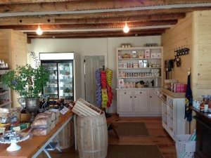 Store-interior, Remodelista: Best Office Space, Built in 1798, our house is a mixed-use building. Originally built as a carpenter shop/sail loft for the whaling industry, it now serves as our home. We have a storefront on the first floor. We recently reno