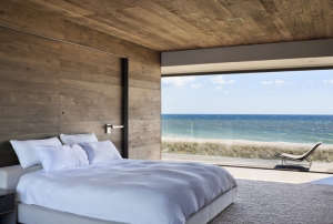 Master-Bedroom, Remodelista: Best Bedroom Space, Located between the Atlantic Ocean and a freshwater pond, this residence is for an adventurous family. A large program and limited building envelope resulted in subtraction rather than addition: carving awa