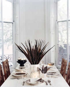 Pheasant Feather Centerpiece Remodelista
