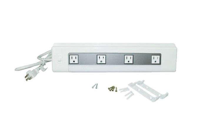 4 Kitchen Cabinet Power Strip, Under Cabinet Receptacle Strips