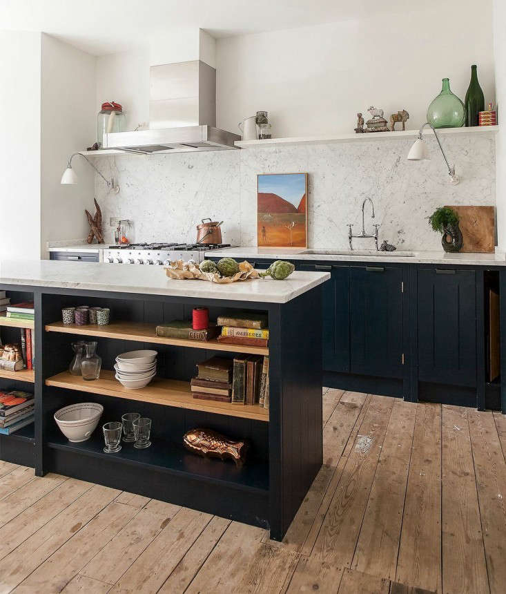 Kitchen Counter Marble elizabeth roberts carrara marble kitchen fort greene marble countertop marble countertops white marble countertops Skye Gyngell Home Kitchen British Standard Units London Remodelista Marble Countertop Marble Countertops White Marble Countertops