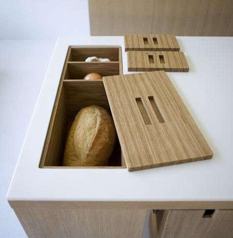 inset bread bin from viola park, part of henrybuilt. 18