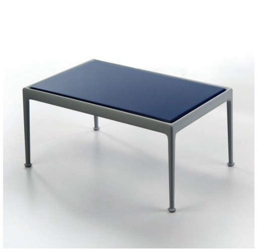 1966 Richard Schultz Gray and Blue Outdoor Table, Gardenista