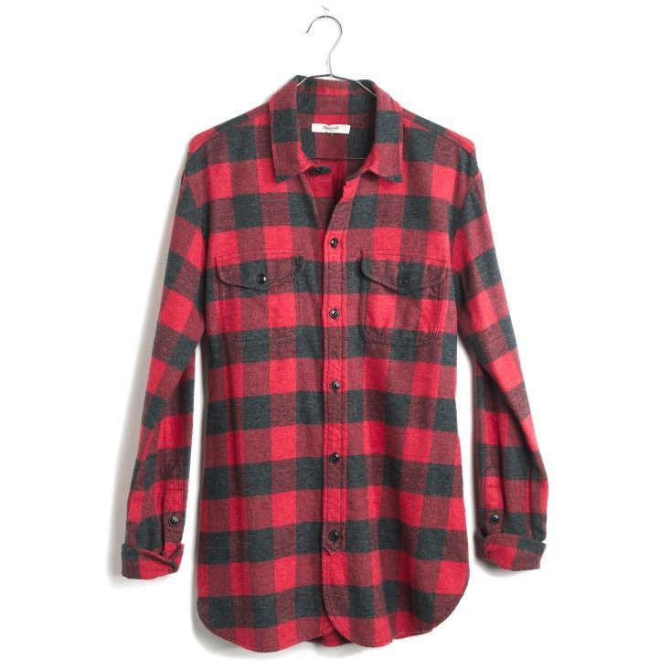 10 easy pieces buffalo plaid work shirts gardenista for Buffalo check flannel shirt