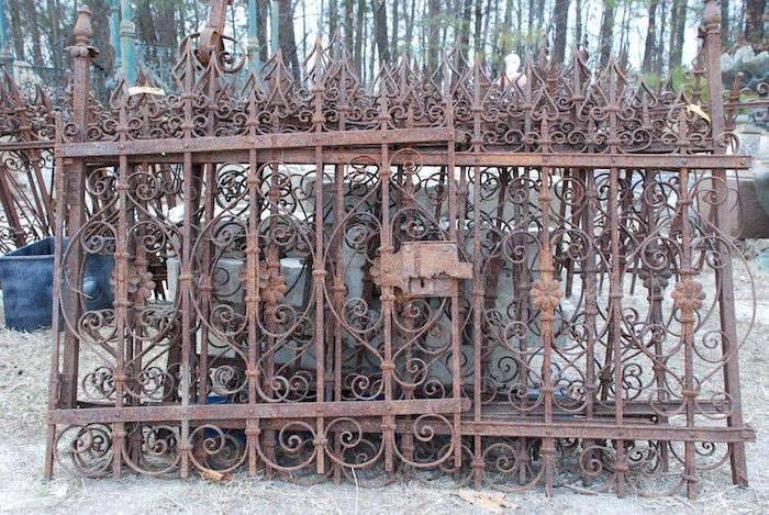 Antique-Wrought-Iron-Fencing-Charlies-Antiques-Gardenista