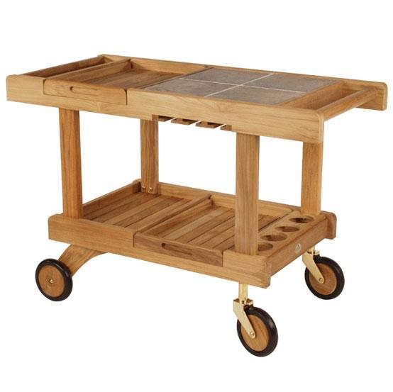 Wood Serving Cart ~ Favorites outdoor bar carts gardenista