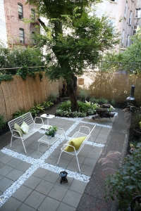 Before and After Crown Heights Brooklyn backyard landscape Ishka Designs; Gardenista