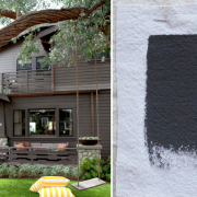 Best Exterior Gray House Paint Colors, Benjamin Moore Iron Mountain, Gardenista