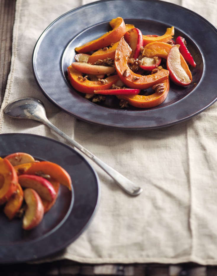 Bountiful-Roasted Gold Nugget Squash with Apples and Brown Butter