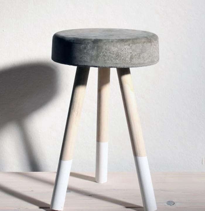 DIY-concrete-stool-dip-dye-gardenista