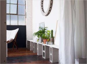 Emma Robertson Oakland studio with plants, Gardenista