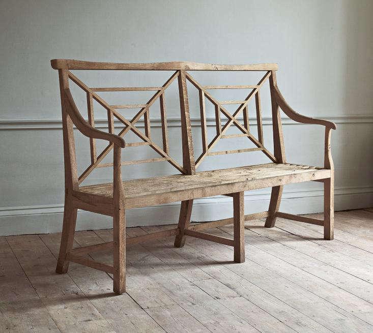 English-oak-chippendale-garden-bench