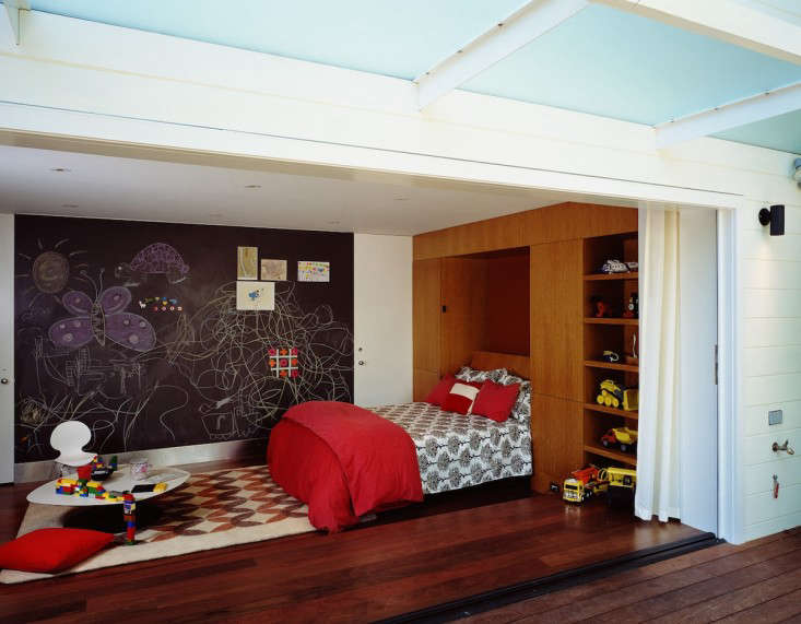 Eureka Valley Playroom and Guest Bedroom in Converted Garage, Gardenista