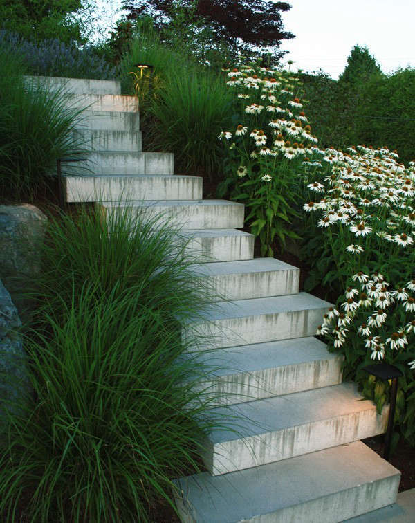 Hardscaping 101 Design Guide For Fences Height Styles: Hardscaping 101: Stairway Lighting: Gardenista