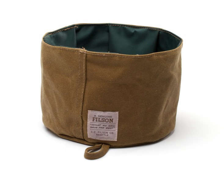 Filson Tin Cloth Dog Food and Water Bowl, Gardenista