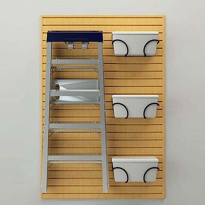Flow-Wall-Storage-Systems-Ladder-and-Bin-Bracket-Combo-in-Maple-Gardenista