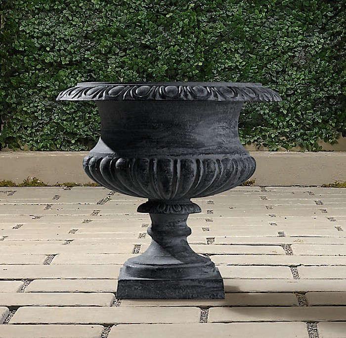 Glastonbury-Iron_Urn-Gardenista