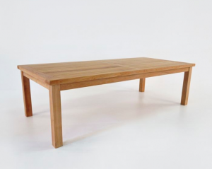 Hampton teak outdoor dining table from Teak Warehouse; Gardenista