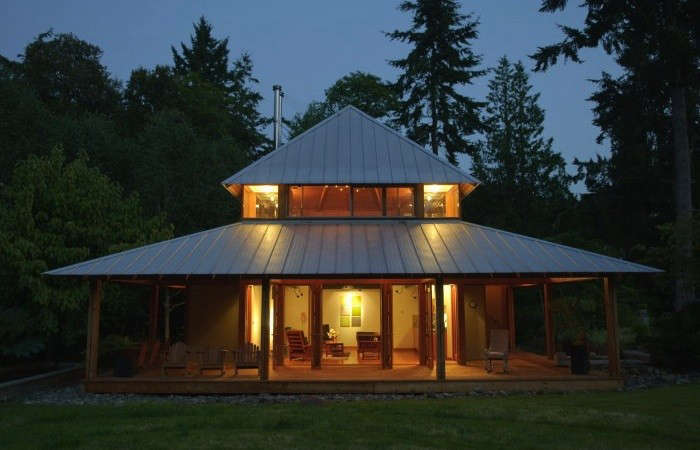 Hardscaping 101 standing seam metal roofs gardenista Cabins with metal roofs