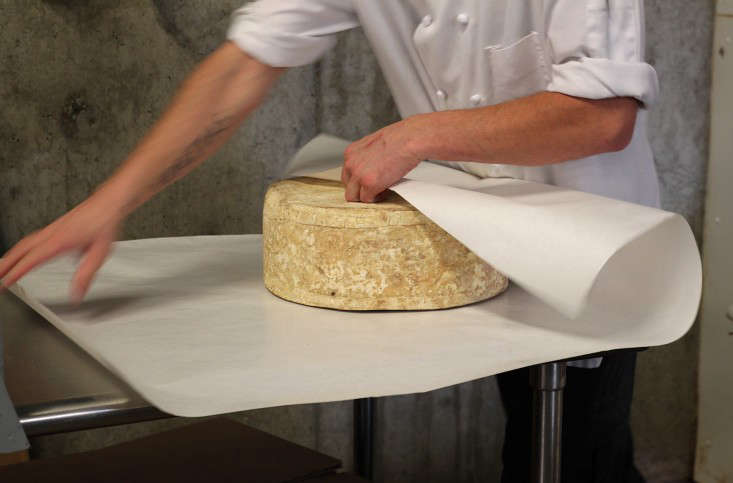 Jasper Hill Cheese Cellars, Wrapping Cloth Bound Cheddarby Justine Hand for Gardenista