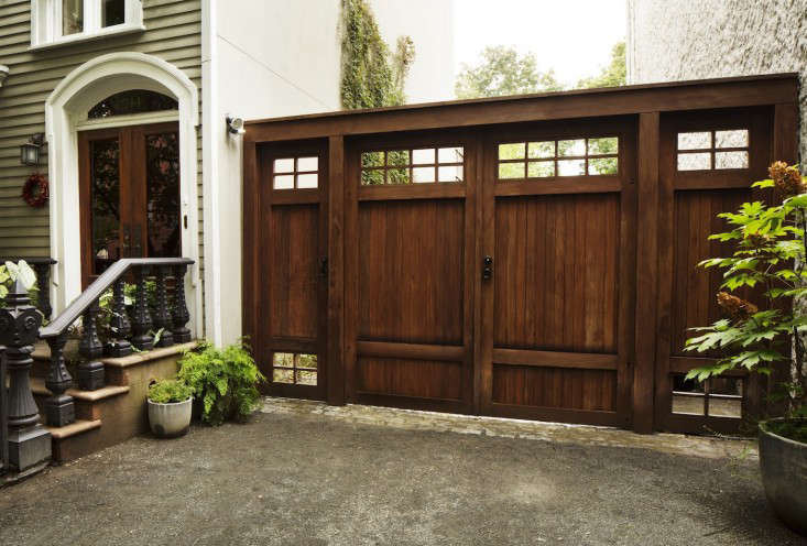 Before and after a brooklyn townhouse with a double wide for Double garden gate designs
