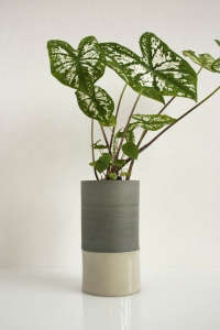 Light and Ladder Tall Chromo Self-Watering Planter in Grey and Sage I Gardenista