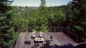 Olle Lundberg cabin Sonoma deck ; Gardenista
